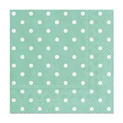 Aqua Polka Dot Cocktail Paper Napkins