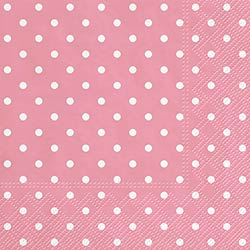 Pink Polka Dot Luncheon Paper Napkins