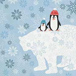 Winter Friends Luncheon Paper Napkins