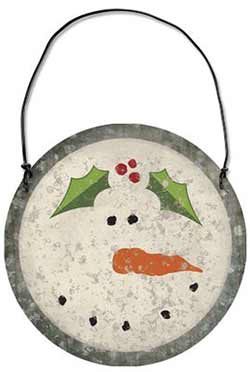 Snowman Tin Ornament