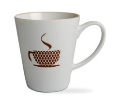 Coffee Addiction Mug - Brown Teacup