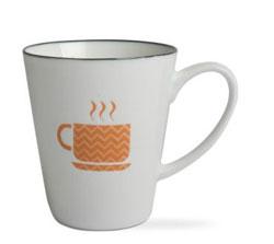 Coffee Addiction Mug - Orange Teacup