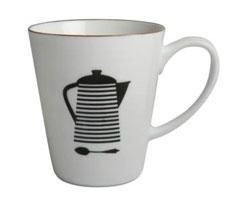 Coffee Addiction Mug - Striped Percolator