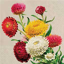 Straw Flowers Luncheon Paper Napkins