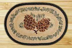 Large Pinecone Braided Jute Rug