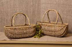 Willow Gathering Baskets - Nesting Set of 2