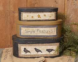 Simple Pleasures Stacking Boxes (Set of 3)