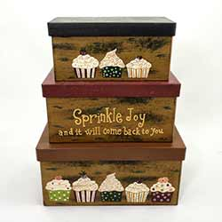 Cupcake Stacking Boxes (Set of 3)
