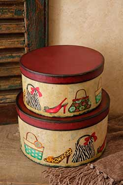 Purses and Shoes Stacking Boxes (Set of 3)