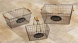 Wire Market Baskets - Nesting Set of 3