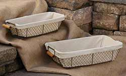 Rectangle Chicken Wire Baskets Set with Liners