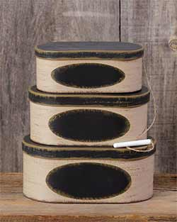 Chalkboard Stacking Boxes (Set of 3)