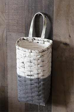 Gray & Whitewash Wall Basket