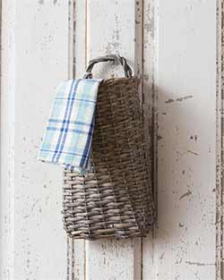 Rustic Gray Hanging Basket