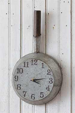 Vintage Kitchen Skillet Wall Clock