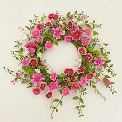 Pink Morning Glory Wreath