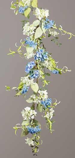 Hydrangea & Queen Anne's Lace Floral Garland