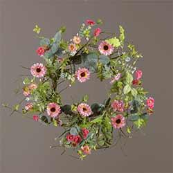 Pink Cosmos Floral Wreath