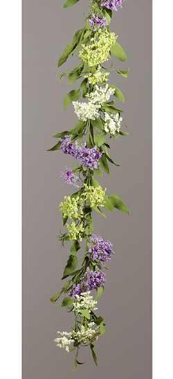 Green & Purple Spirea Garland