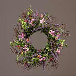 Lavender & Pink Flower Wreath