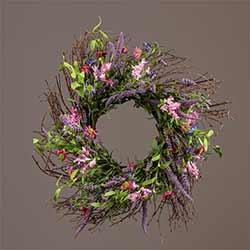 Lavender & Pink Flower Wreath