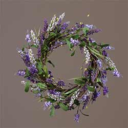 Lavender Flower Wreath