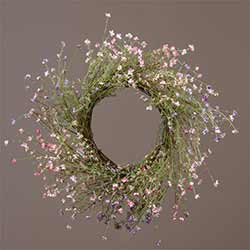 Pink & Lavender Wispy Flower Wreath