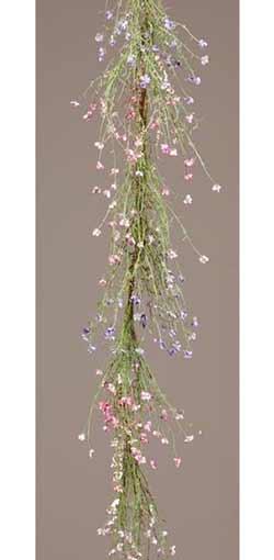 Pink & Lavender Wispy Flower Garland