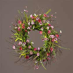 Mini Pink Daisy Wreath