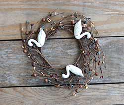 Pip Berry Candle Ring with Geese