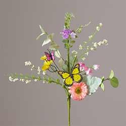 Summer Flowers & Butterflies Picks (Set of 2)
