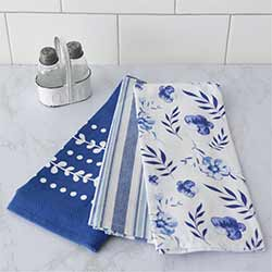 Blue & White Dishtowels (Set of 3)