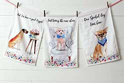 Playful Pups Tea Towels (Set of 3)
