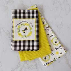 Bee Happy Kitchen Towels (Set of 3)