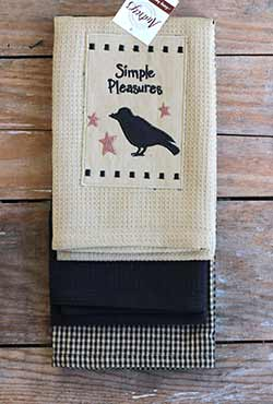 Simple Pleasures Crow Kitchen Towels (Set of 3)