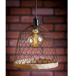 Chicken Wire Pendant Lamp