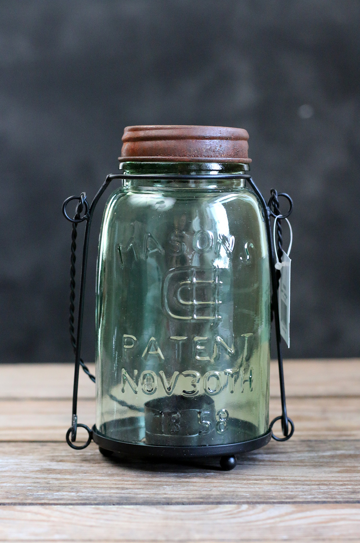Canning Jar Tealight Candle Lantern