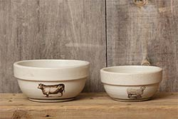 Sheep & Cow Bowls (Set of 2)