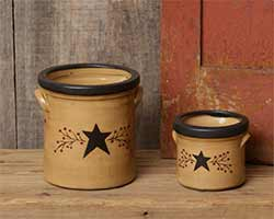 Primitive Black Star Crocks (Set of 2)