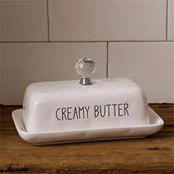 Simple Farmhouse Covered Butter Dish