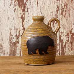 Black Bear Pottery Jug
