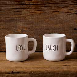 Love & Laugh Farmhouse Mugs (Set of 2)