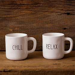 Chill & Relax Farmhouse Mugs (Set of 2)