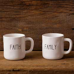 Faith & Family Farmhouse Mugs (Set of 2)