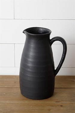 Black Matte Extra Large Pitcher