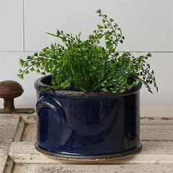 Navy Blue Pottery Crock - Small