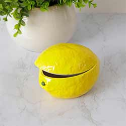 Decorative Lemon Dish with Lid
