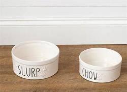 Slurp or Chow Ceramic Pet Bowl