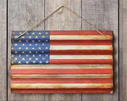 American Flag Metal Wall Hanging