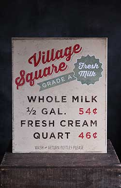 Vintage Dairy Advertisement Tin Sign